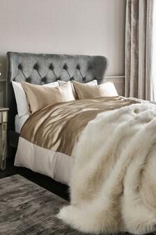 Shiny Sateen Duvet Cover And Pillowcase Set