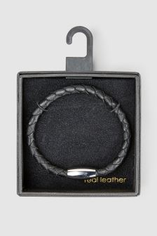 Leather Weave Bracelet