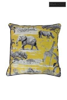 Safari Animal Printed Cushion by Riva Home