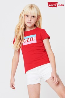 Levi's® Kids Red Sports Logo T-Shirt