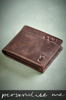 Personalised Leather Two Fold Wallet