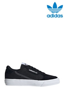 adidas Originals Black/White Continental Vulc Trainers