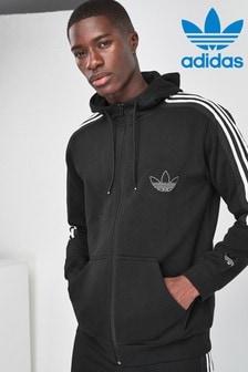 adidas Originals Black Outline Zip Through Hoody