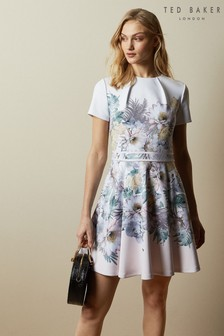 Ted Baker Pink Haylinn Woodland Skater Dress