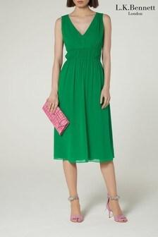 שמלת שושבינה מדגם Greca בירוק של L.K.Bennett