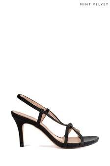 Mint Velvet Black Phillipa Strappy Heel
