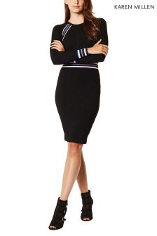 Karen Millen Black Sporty Stripe Knit Collection