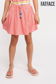 FatFace Pink Plain Jersey Skirt