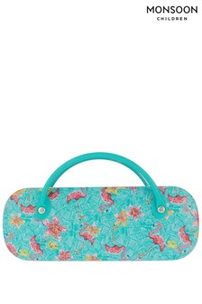 Monsoon Aqua Sky Flamingo Sunglasses Case