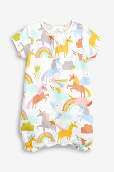 Unicorn/Rainbow Romper (0mths-2yrs)