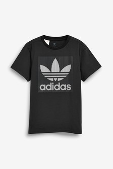 adidas Originals Black Embossed T-Shirt