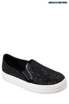Skechers® Black Rhinestone Ditsy Flower Design Slip On