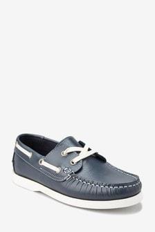 נעלי סירה מעור (נוער)