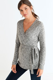 Maternity Cosy Nursing Wrap Top
