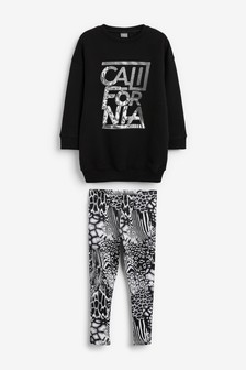 Sports Crew Neck Sweat And Leggings Set (3-16yrs)