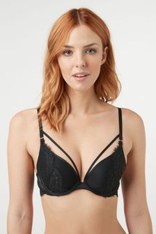 Cara Push Up Plunge Lace Bra