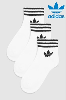 adidas Originals White Trefoil Socks Three Pack