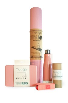 Myga Exclusive To Next Pink Yoga Set
