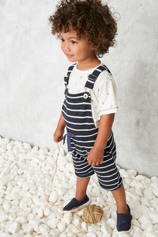 Stripe Dungarees With T-Shirt Set (3mths-7yrs)