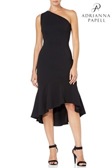 Adrianna Papell Black Daphne Sheath Dress