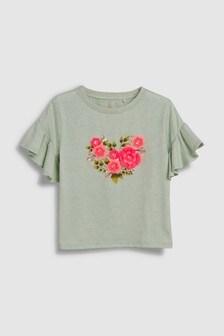 3D Floral Embellished T-Shirt (3-16yrs)