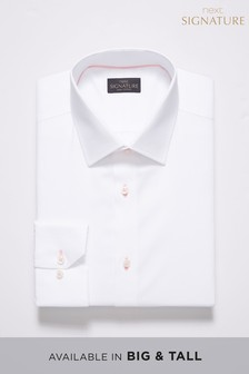 Signature Slim Fit Single Cuff Contrast Stitch Shirt