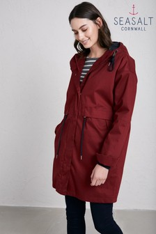 Seasalt Red Madder Polperro 3 Season Coat