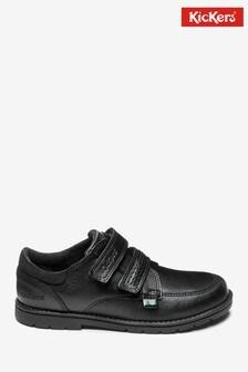 Kickers® Black Orin Twin Toe Velcro Shoe