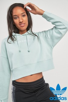 adidas Originals Vapour Green Coeeze Cropped Hoody