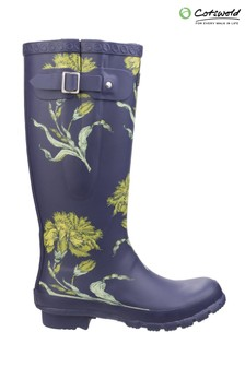 Cotswold Purple Windsor Print Wellington Boots