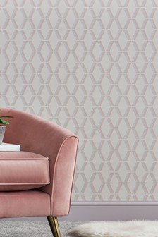 Paste The Wall Luxe Beaded Geo Wallpaper