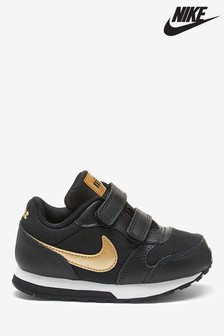Nike Black/Gold MD Runner Infant Trainers