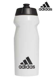 adidas White 0.5L Water Bottle