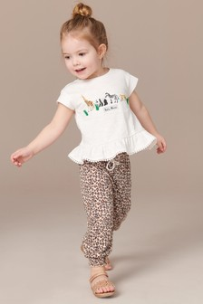 Safari Character Trousers And T-Shirt Set (3mths-7yrs)
