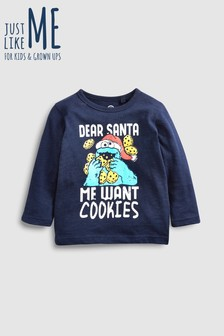 Cookie Monster Long Sleeve T-Shirt (3mths-6yrs)