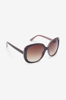Glam Studded Side Sunglasses