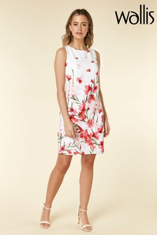 Wallis Petite Ivory Floral Shift Dress
