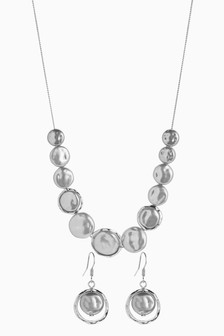 Statement Organic Shape Necklace And Earring Set
