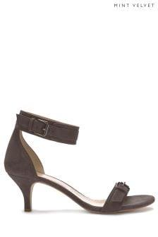 Mint Velvet Grey Luna Double Strap Sandal