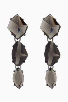 Jewelled Stone Detail Drop Earrings