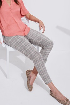 Check Pastel Slim Fit Trousers