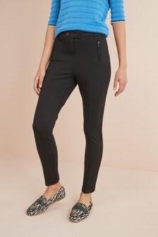 Длинные облегающие брюки с сильно зауженными брючинами