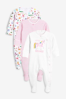 Bright Unicorn Character Sleepsuits Three Pack (0mths-2yrs)