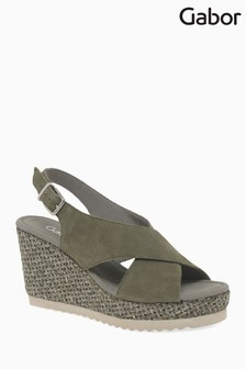 Gabor Green Suede Sandal