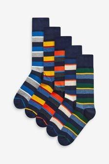 Stripe Socks 5 Pack