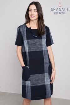 Seasalt Kergilliack Raven Cast Shadow Linen Dress