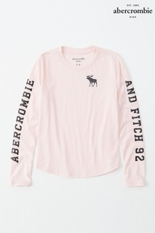 Abercrombie & Fitch Pink Long Sleeve Tee