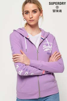 Superdry Track And Field Lightweight Zip Hoody