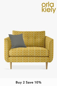 Orla Kiely Linden Snuggle Sofa With Oak Feet