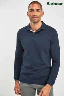 Barbour® Navy Long Sleeve Sports Polo